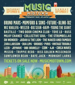 2017 Music Midtown Lineup